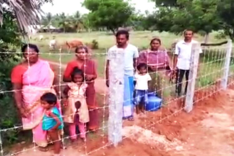 Dalit family lives on groceries thrown in by relatives as home fenced off by caste Hindus