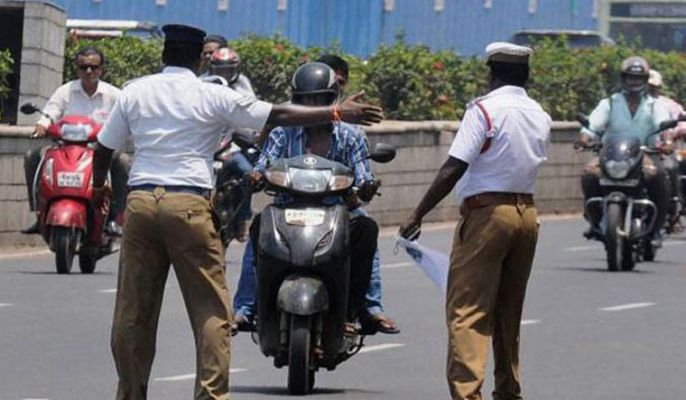 """Police constable seeks motorist""""s caste details for issuing challan in TN"""
