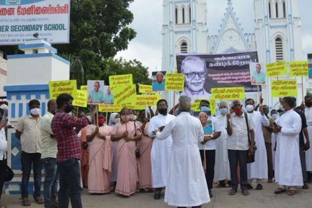 Protests across India over Jesuit's arrest on sedition charges
