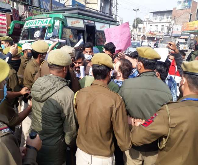 Jammu: Secretariat siege attempts by SC / ST students, scholarship not received for three years