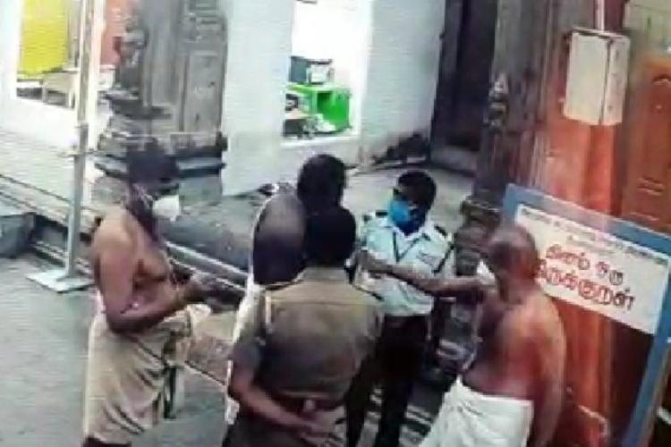 Complaint against TN temple priest after CCTV footage shows him hitting Dalit guard