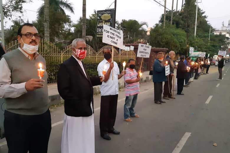Calls for Indian Jesuit's freedom fill Rights Day
