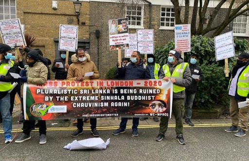 London: Protest against forced cremation of Muslims in Srilanka
