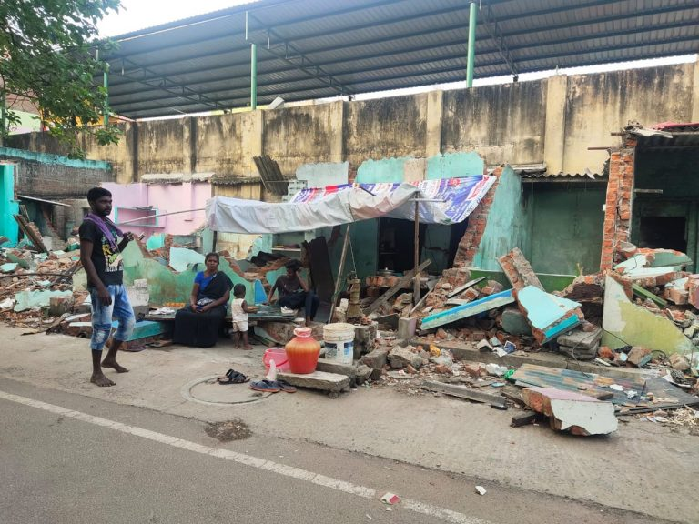 """""""Aren't we human?,"""" ask Dalit families after demolition of their settlement in Chennai street, fear loss of livelihood"""