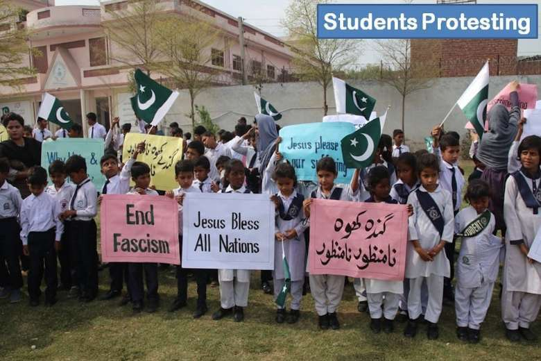 Sewage station stopped at Christian school in Pakistan