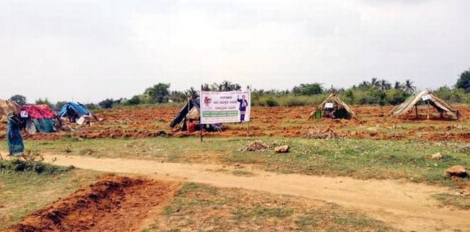 Dalit families stage protest, occupy forest land