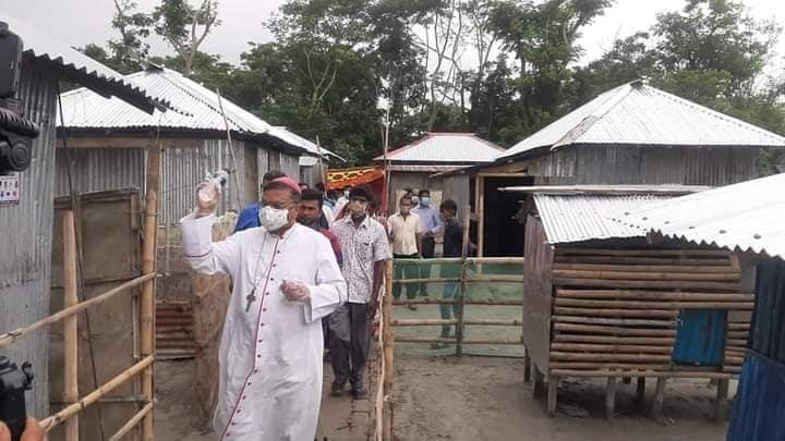 Caritas provides homes to people displaced by natural disasters in Bangladesh
