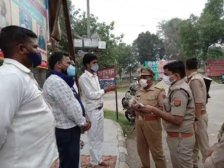 Dalit society's protest demanding compensation and arrest