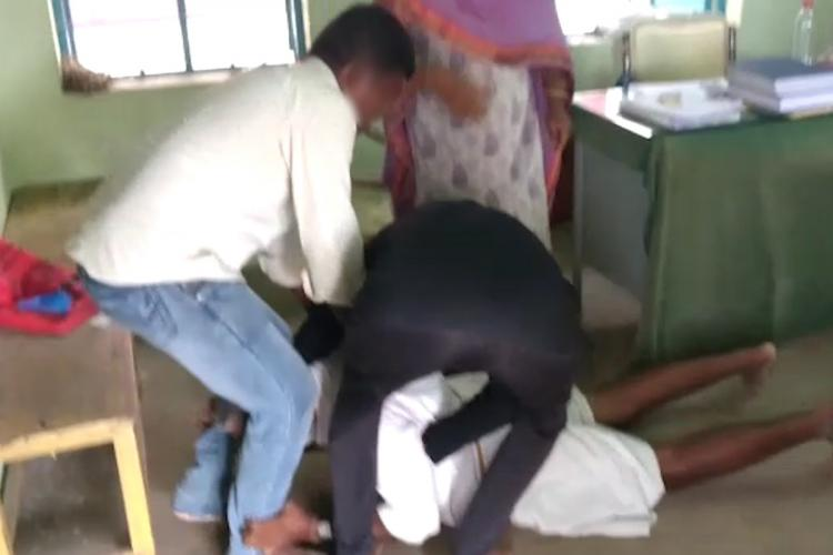 Video of Dalit govt employee forced to fall at feet of caste Hindu man shocks TN