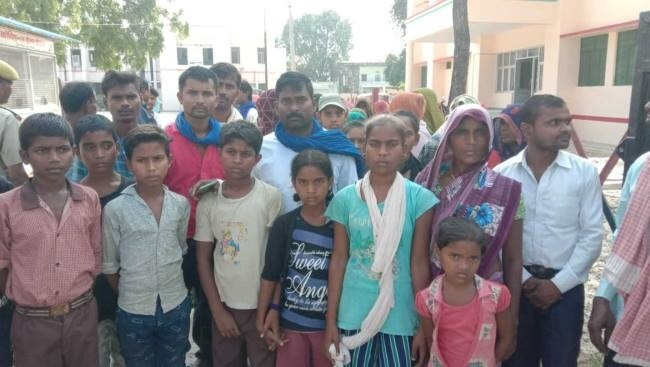 Discrimination against Dalit students in school, bullies beat up, even got their feet caught, villagers protest in SP office